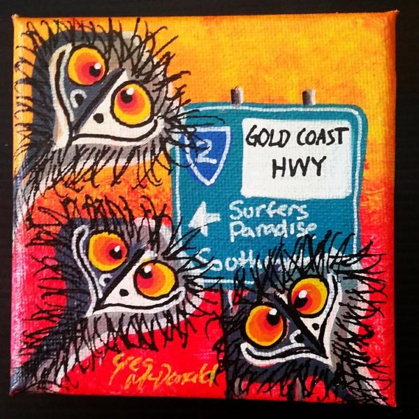 Surfers Paradise Paintings Emus