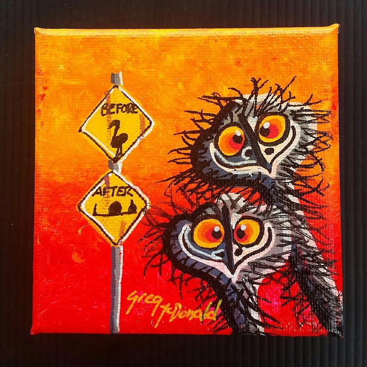 Emu Paintings Gold Coast