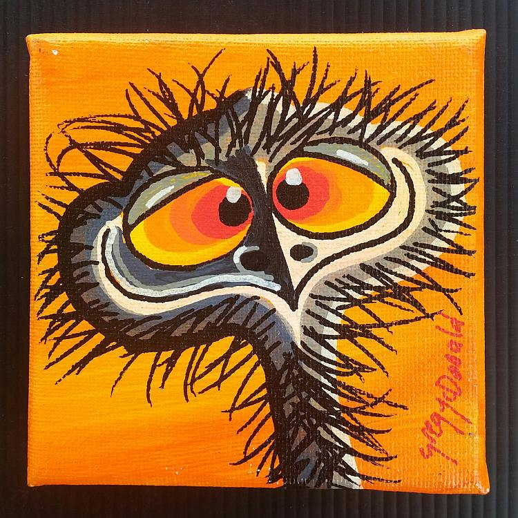 Funny Emu Paintings Australia