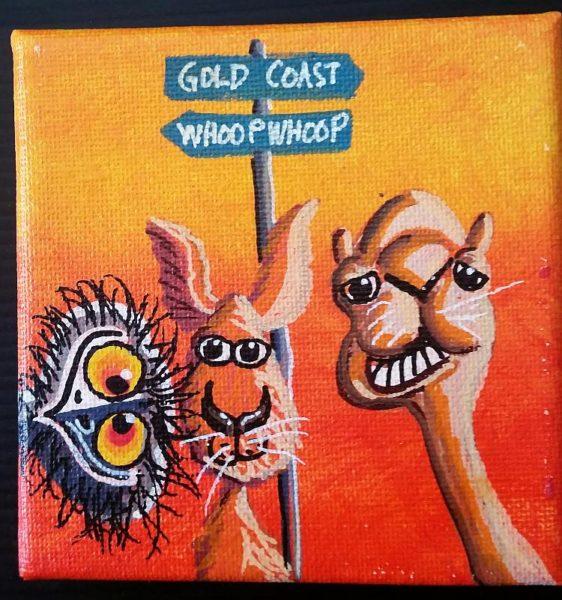 Gold Coast Canvas Art Emu Kangaroo Camel
