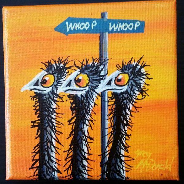 Emu Whoop Whoop Painting
