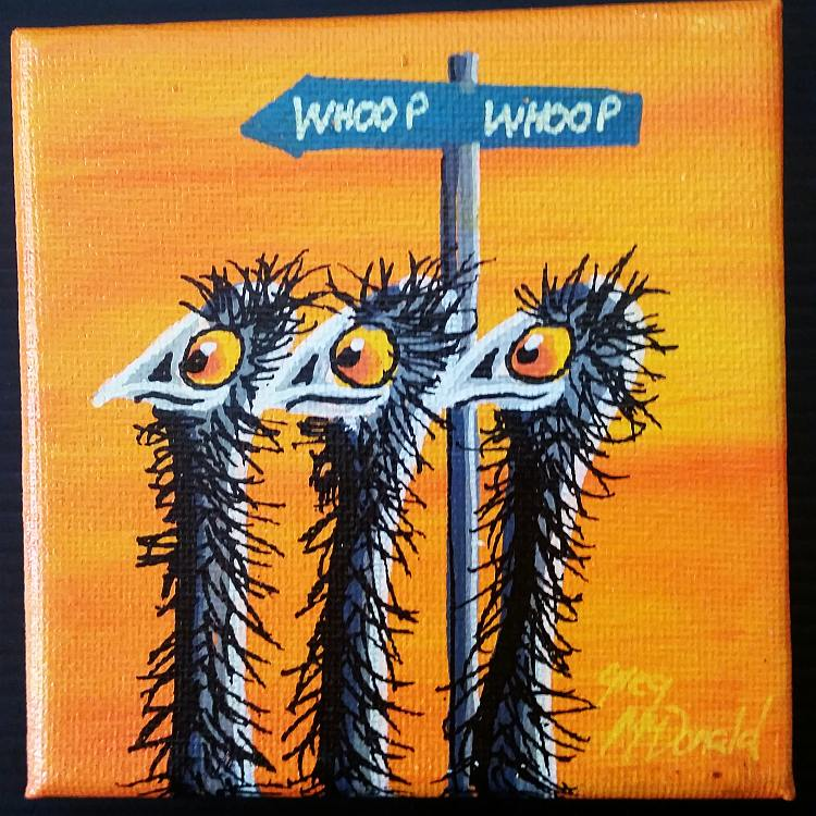 Emu Whoop Whoop Painting