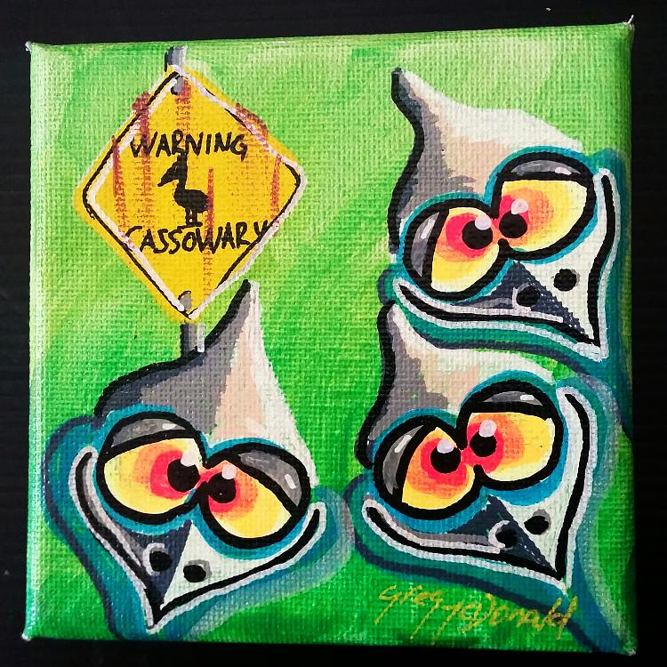 Cassowaries art for sale from artist