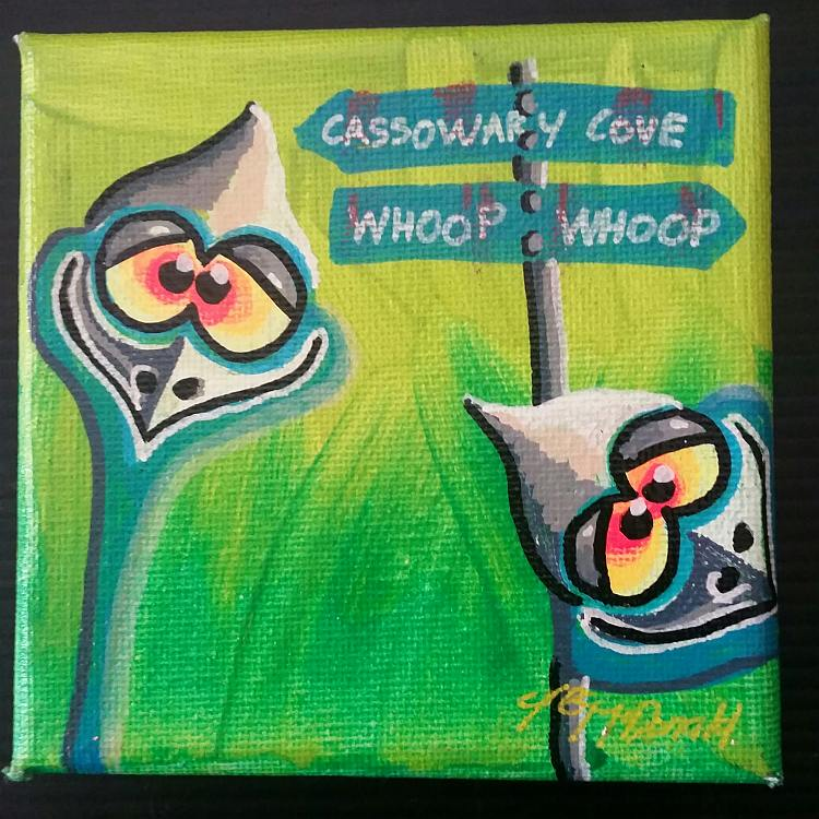 Cassowaries Painting Australia
